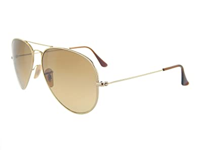 14269098c1 Image Unavailable. Image not available for. Color  Ray Ban Titanium Aviator  RB8041 001 M2 Arista  Brown Grad. 58mm Polarized Sunglasses
