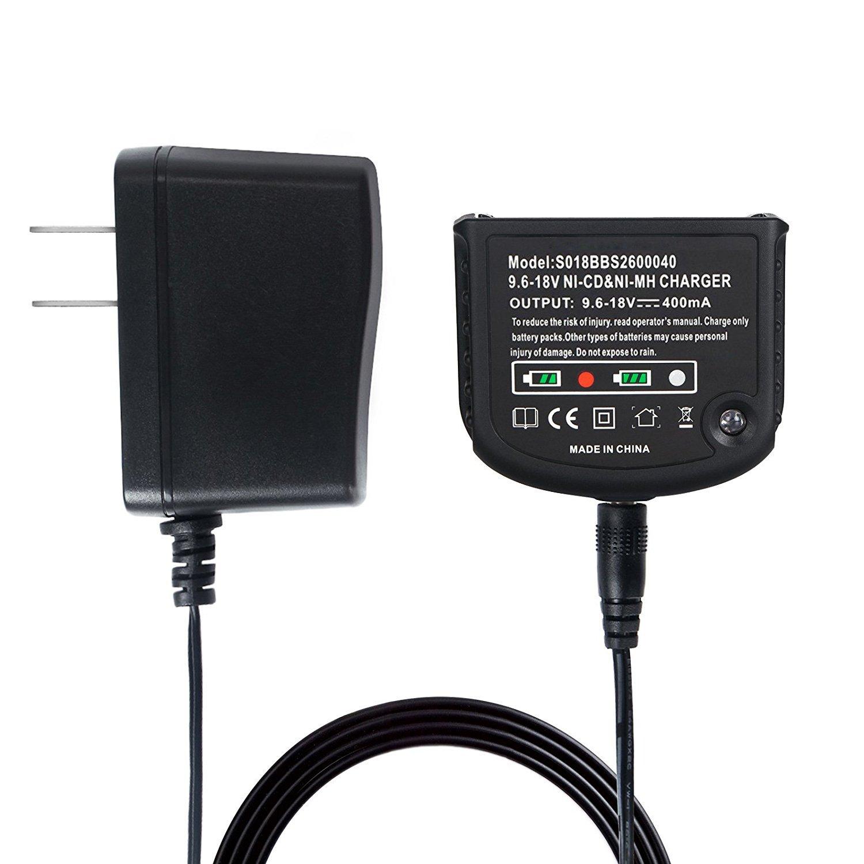 Fit for Black /& Decker HPB18-OPE HPB18 HPB14 HPB12 HPB96 12V//14.4V//18V NICD NIMH Batteries ONEGenug 9.6V-18V Charger for BLACK+DECKER Battery