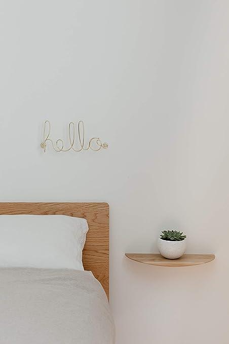 Dimension : 32.4x14.7x7.2cm Fil de m/étal dor/é Hello A visser au mur pour un message d/écoratif UMBRA Hello