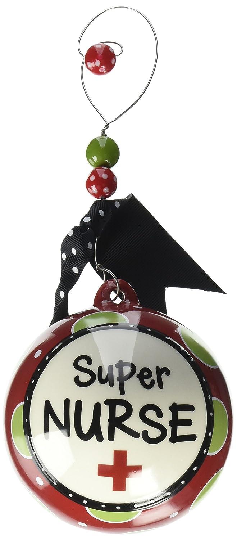 Amazon.com: Unique Super Nurse Christmas Tree Ornament Great: Home ...