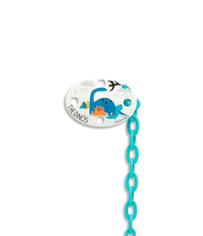 Suavinex 302604 - Broche ovalado dinosaurios, color azul: Amazon.es: Bebé