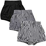 Noubeau Baby Bloomers Unisex Baby Girls Boys Cotton Drawstring Shorts Summer Daily Wear Loose Bottoms Elastic Waist