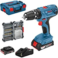 Bosch Professional 18V System accuschroefklopboormachine GSB 18V-21 (incl. 2x 2,0 Ah accu, 40-delige accessoireset, in L…