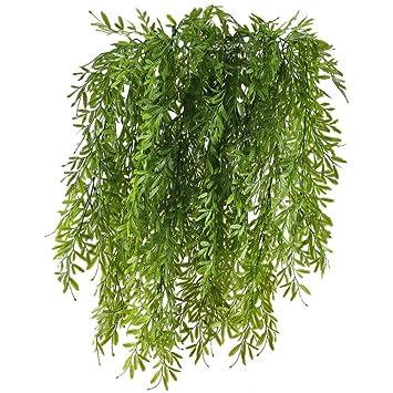 Huaesin 2 Pcs Reben Kunstlich Kunstpflanzen Hangend Hangepflanzen