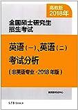 (2018年)全国硕士研究生招生考试:英语(一)、英语(二)考试分析(非英语专业)(高教版)
