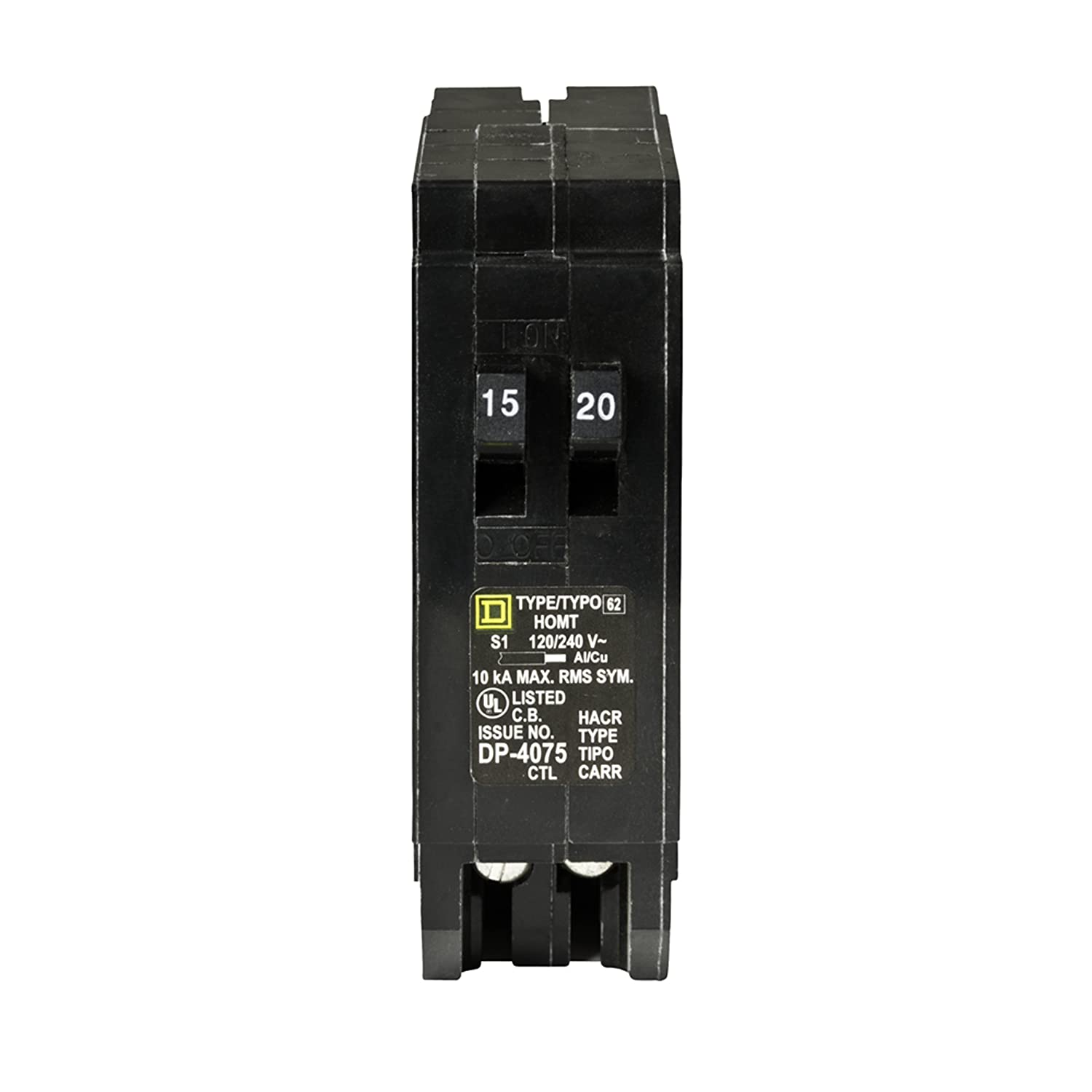 Square D by Schneider Electric HOMT1520CP Square D Homeline Single Pole Tandem Circuit Breaker