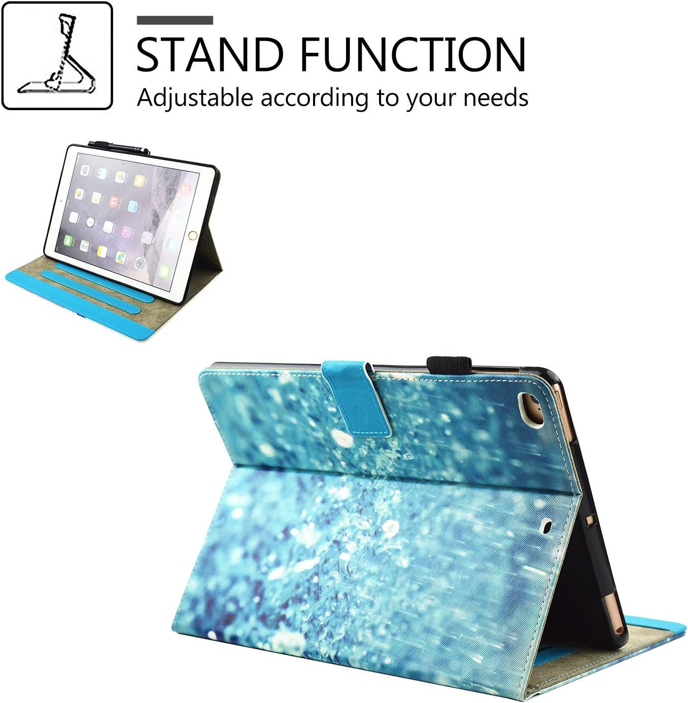 iPad Air 2 //iPad Air//iPad 9.7 2017 Covers Multi-Angle Viewing iPad 5/&6 ,Paris Dream Kickstand Durable Hybrid Leather Cover with PC Inner Protective Case for Apple iPad 9.7 2017//iPad Air 1/&2