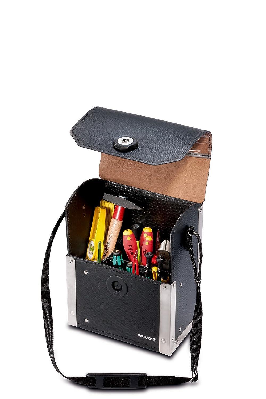 Parat 7673780010 - Maleta de herramientas, 17 compartimentos (230 x 140 x 300 mm) color negro