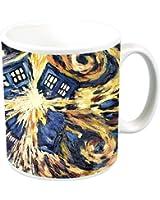 Doctor Who Exploding Tardis TV Show (Van Gogh's Exploding Tardis) Ceramic Coffee (Tea, Cocoa) 11 Oz. Mug