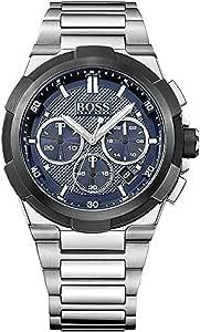 Hugo Boss Men's 1513360 Year-round Bracelet Analog Quartz Silver Band Watch
