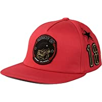 A|X Armani Exchange Armani Exchange AIX Bulldog Patch Hat in RED