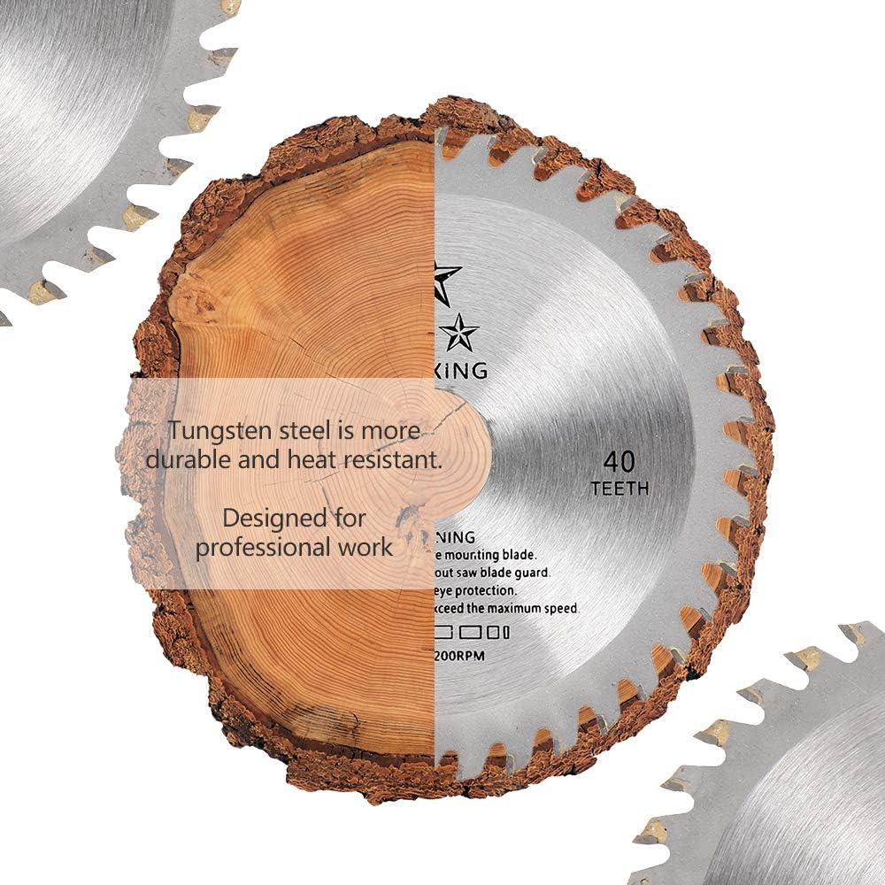 SurfMall 3PCS 115mm 40T Sierra circular Discos de cuchilla de inmersi/ón Amoladora angular de corte de pl/ástico de madera