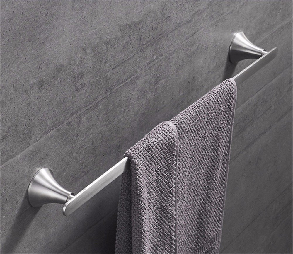 HOMEE European Style Stainless Steel Bathroom Towel Bar Bathroom Single Pole Rack Pendant by HOMEE