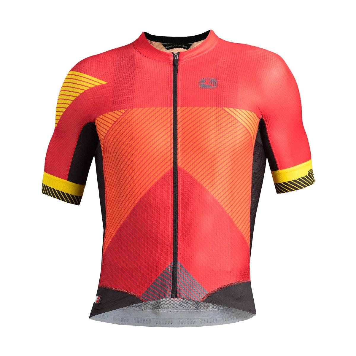 Giordana Moda fr-c Pro半袖Jersey – Men 's B0797SK9XK Medium VETTE-RED/ORAN/YELL VETTE-RED/ORAN/YELL Medium