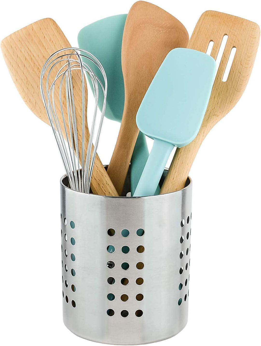 Stainless Steel Cutlery Holder Kitchen Utensil Holder Pot Kitchen Utensil Caddy Cooking Tools Holder