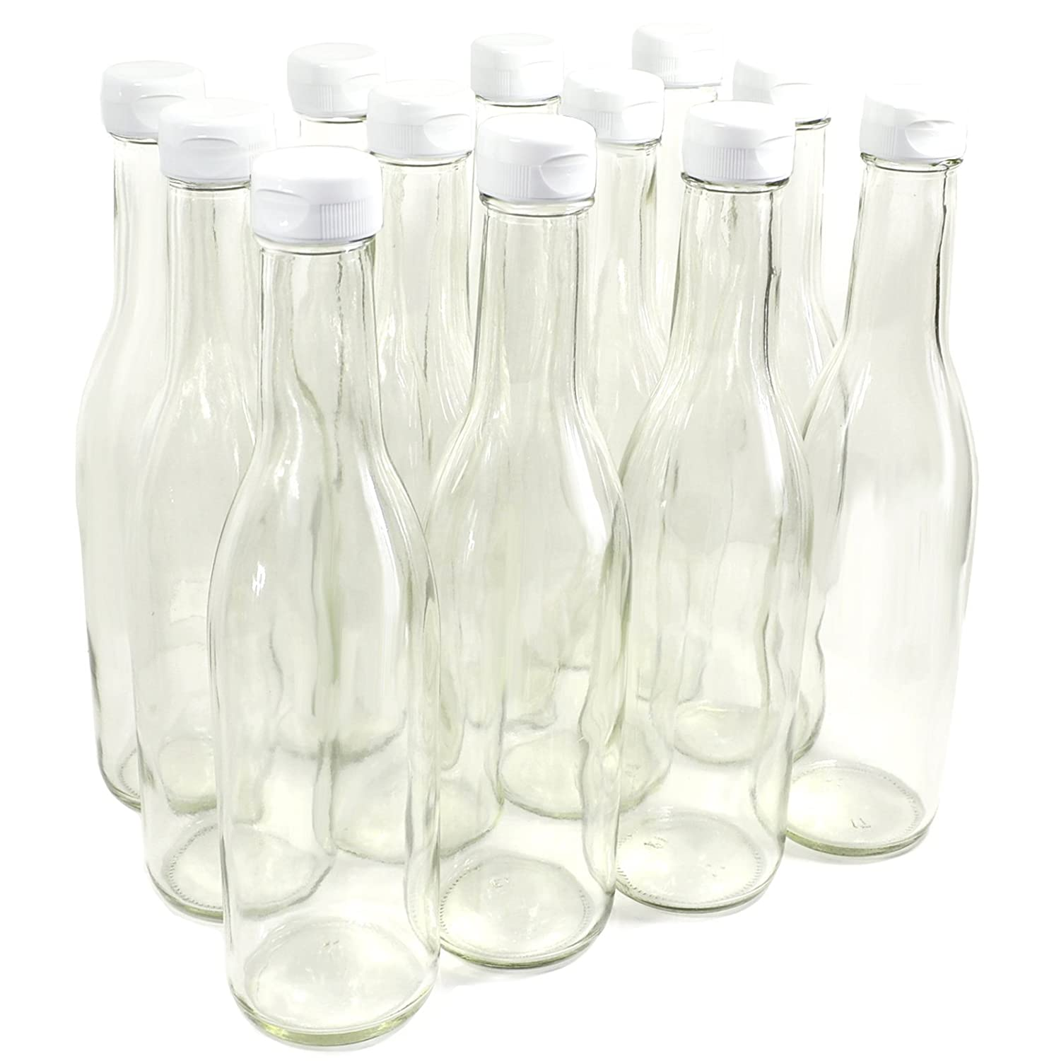 Clear Glass Woozy Bottles, 12 Oz - Pack of 6 COMINHKPR148518