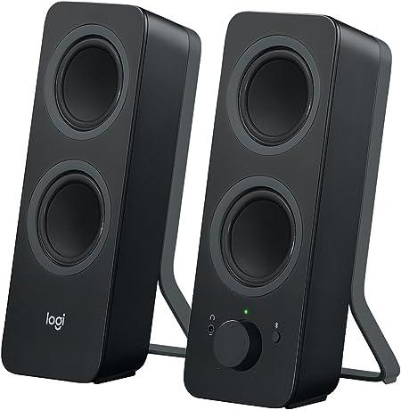 Oferta amazon: Logitech Z207 Sistema de Altavoce Bluetooth para PC, Sonido Estéreo, 10W de Pico, Entrada Audio 3.5 mm, Toma Auriculares, Multidispositivos, Enchufe EU, Ordenador/TV/Smartphone/Tablet, Negro