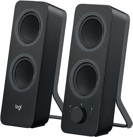 Logitech Z207 Sistema de Altavoce Bluetooth para PC, Sonido Estéreo, 10W de Pico, Entrada Audio 3.5 mm, Toma Auriculares, Multidispositivos, Enchufe EU, Ordenador/TV/Smartphone/Tablet, Negro: Logitech: Amazon.es: Informática
