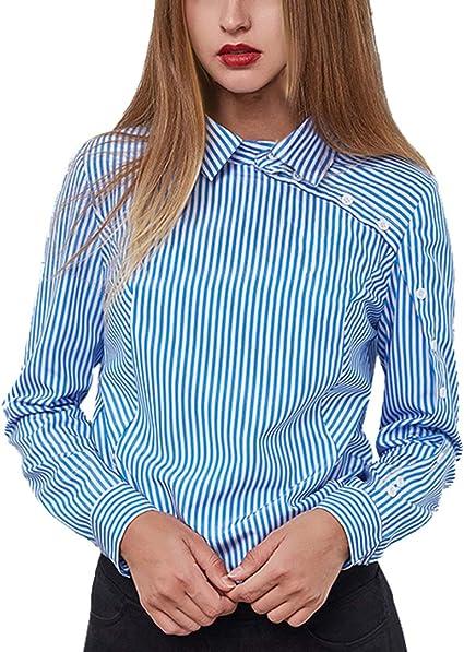 kefirlily Mujer Elegante Blusa de Gasa con Lazo con Cuello en V Blusa de Manga Larga de Verano Bloom: Amazon.es: Ropa y accesorios
