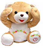 Cute Peek-a-boo Teddy Bear Animated Stuffed Plush Animal By Bo Toys