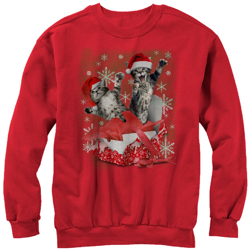 Kitten Christmas Sweater.Lost Gods Women S Kitten Ugly Christmas Sweater Gift