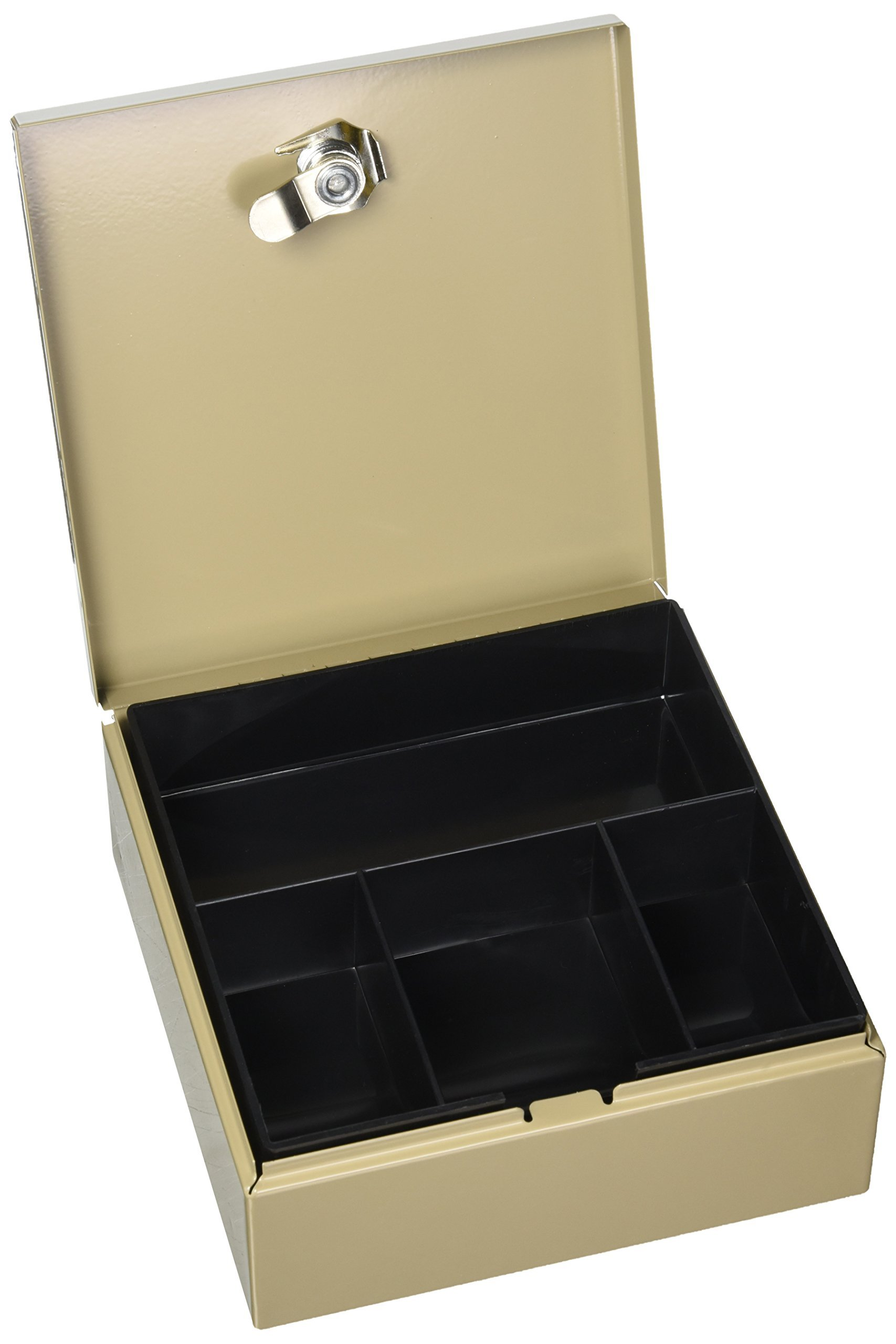 PM Company Securit Personal 2 In 1 Key Cabiner/Drawer Safe, 6.75 X 6.875 X 3 Inches, Pebble Beige (04982)