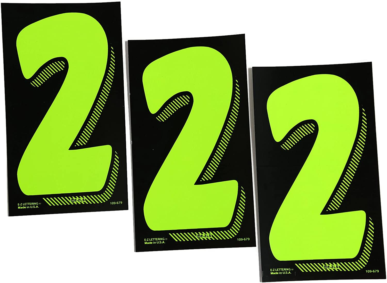 # 8s 7 1//2 Green Chartreuse Pricing Numbers for Car Dealers 3 Dozen