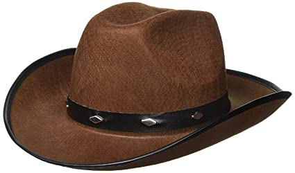 321cac3cfd7ab Amazon.com  Kangaroo Brown Studded Cowboy Hat  Toys   Games