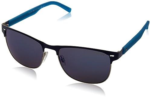 Tommy Hilfiger Unisex-Erwachsene Sonnenbrille TH 1401/S XT Schwarz (Mtblue Teal), 56