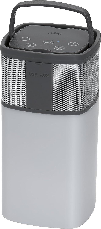 AEG BSS 4841–Altavoz Bluetooth Color Blanco/Antracita