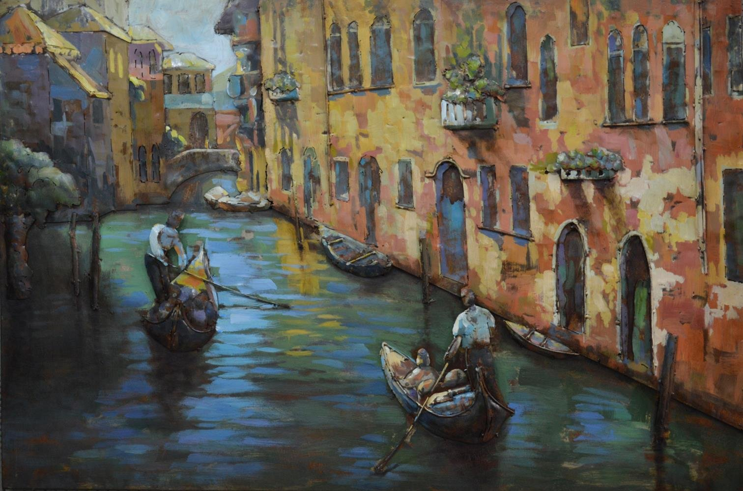 Empire Art Direct ''Venice'' Mixed Media Hand Painted Iron Wall Sculpture by Primo by Empire Art Direct
