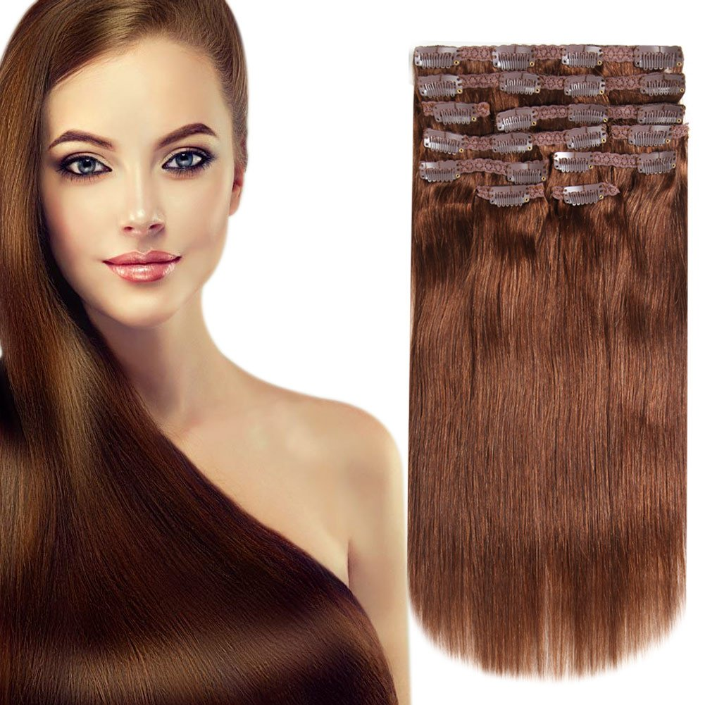 Amazon Heesaga Clip In Real Human Hair Extensions 14 Inch 120