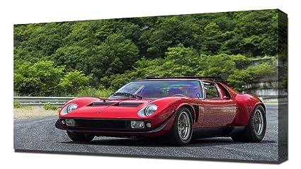 Amazon Com Lilarama Usa 1968 Lamborghini Miura Jota Svr V6 Canvas
