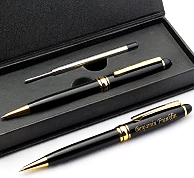 Star Shapped Stand With Ball Pen High Polished Finish Engraved Free New In Box