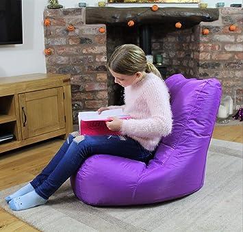 MaxiBean Puf Bolsa Interior puf al Aire Libre jardín Sillón reclinable cojín para Silla, Color Morado: Amazon.es: Juguetes y juegos