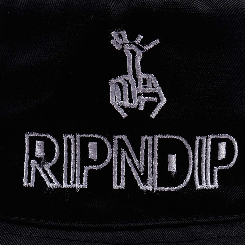 ANDERDM Black Print Pattern Bucket Hat for Women Men Couple Spring Summer Fisherman Hats Caps Sunscreen Hip Hop Cap