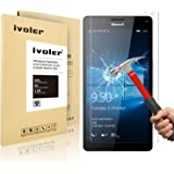 Microsoft Lumia 950XL Screen Protector- iVoler Premium Tempered Glass Screen Protector for Microsoft Lumia 950XL- 0.2mm Ballistics Glass, 2.5D Round Edge, 9H Hardness Featuring Anti-Scratch, Anti-Fingerprint, Bubble Free- Lifetime Replacement Warranty