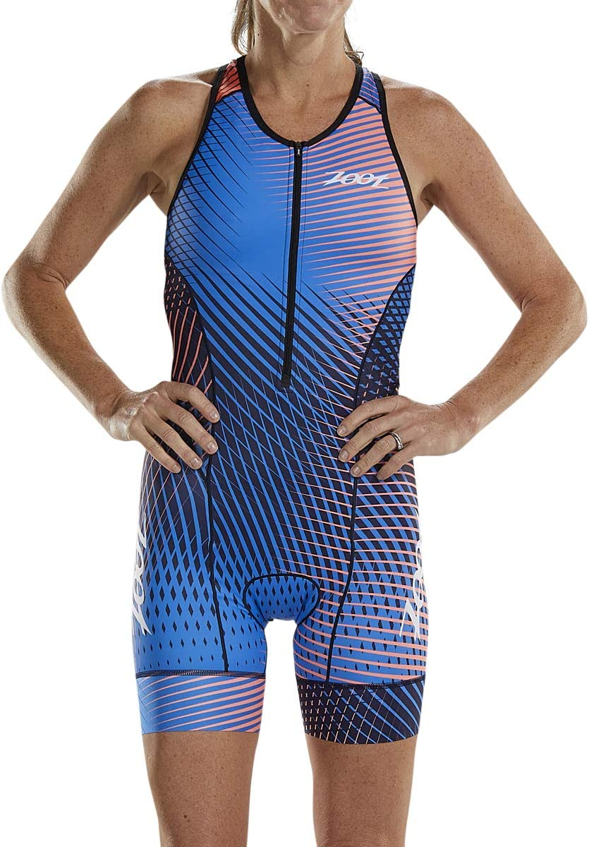 Zoot Womens LTD Triathlon Suit Tri Racesuit with Primo Fabric and Two Pockets