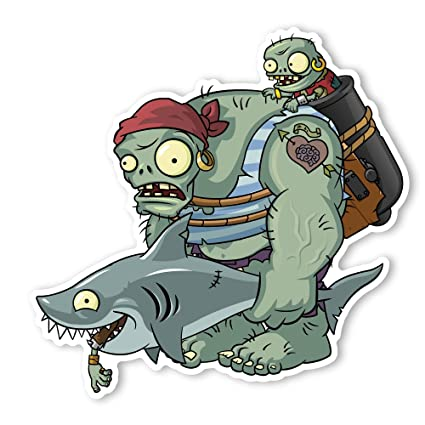 Plants vs  Zombies 2 Wall Decal: Gargantuar Pirate (12 in x 11 75 in)