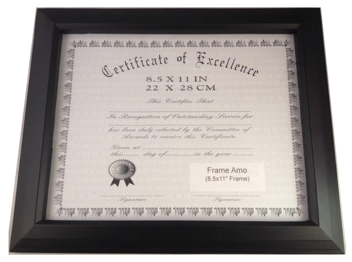Rahmen Amo schwarz 8,5 x 11 Zertifikat Dokument Rahmen, 2,8 cm breit ...