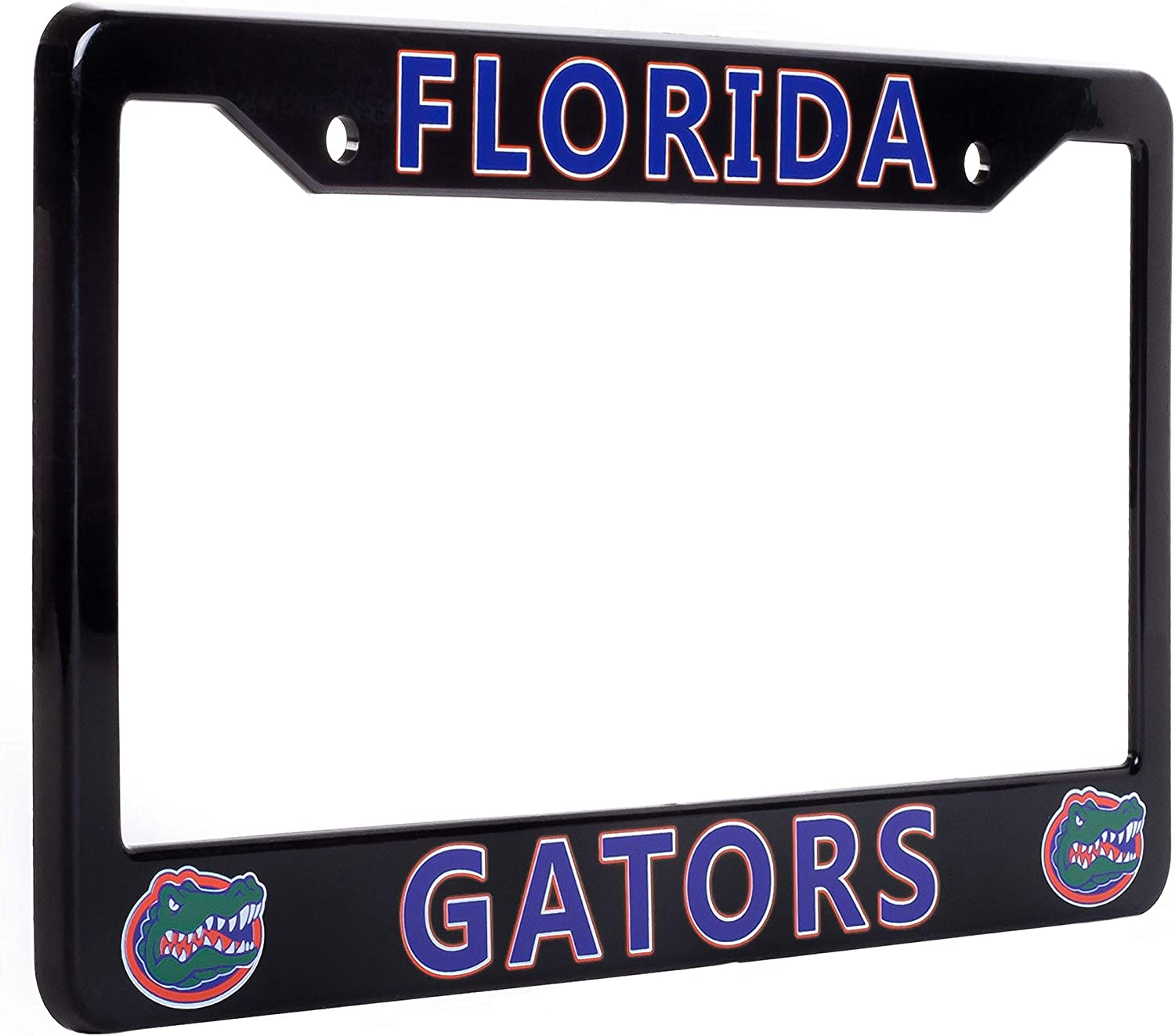 "EliteAuto3K Florida Gators License Plate Frame Cover Black NCAA Car Accessory Ideal Gift for Sports Fans /& Supporters 12.25/"" x 6.25/"" Slim Design"