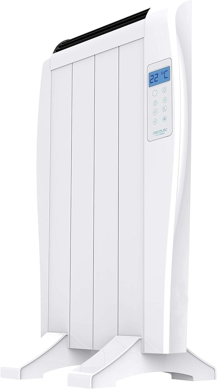 Minuterie 600 W. /Écran LED 3 Modes de Fonctionnement T/él/écommande sans Fil Cecotec /Émetteur Thermique Ready Warm 800 Thermal 4 /Él/éments