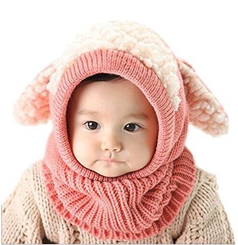ZZLAY Belle bébé chapeau d hiver écharpe earflap capuche écharpes crâne  casquettes chaudes tricot couverture 0438f000712