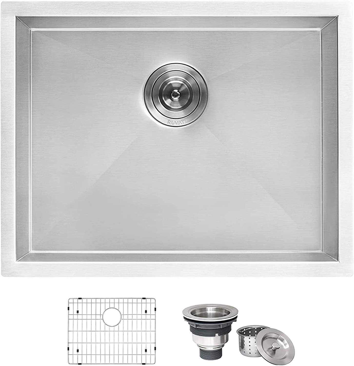 "Ruvati 24"" x 18"" x 13"" Deep Laundry Utility Sink Undermount 16 Gauge Stainless Steel - RVU6124"
