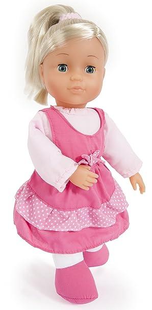 Ab 2 Süße Amia Puppen Kleidung für Puppen von 40-46 cm 3 teil Kleidung & Accessoires Neu Kleid Rosa Babypuppen & Zubehör