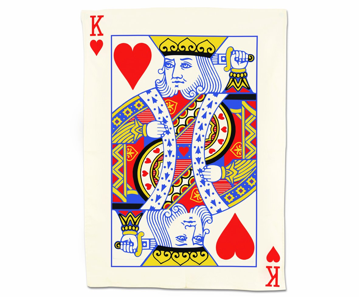 Gift Republic GR340007 Playing Cards King Tea Towels