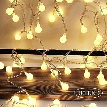 4//10M LED Lichterkette Kugeln Innen Außen Party Weihnachten Garten Beleuchtung