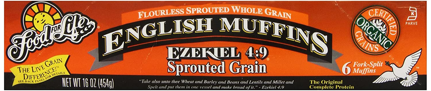 Food For Life Flourless Sprouted Grain English Muffin, 16 oz (Frozen)