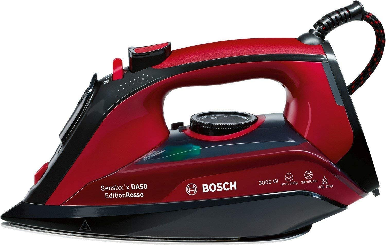 Bosch TDA503001P Sensixx'x DA50, Plancha de Vapor, 3000 W, Color Rojo
