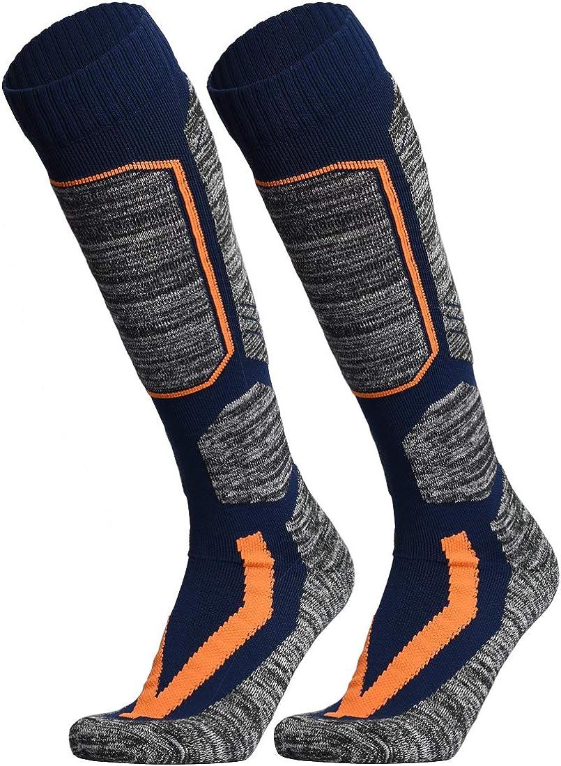 WEIERYA Ski Socks 2 Pairs Pack Performance Skiing Socks Snowboard Socks